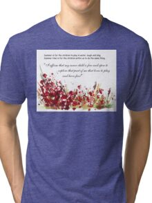 Affirmation for MY INNER CHILD Tri-blend T-Shirt
