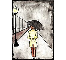 The wanderer in the rain Photographic Print