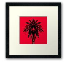 Palm Tree - Red Sky Framed Print