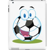 Cartoon soccer smiley ball iPad Case/Skin
