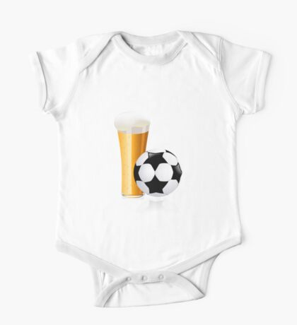 Football with beer One Piece - Short Sleeve