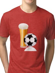 Football with beer Tri-blend T-Shirt