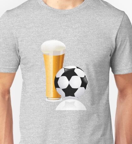 Football with beer Unisex T-Shirt