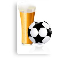 Football with beer Canvas Print