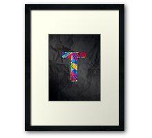 Fun Letter - T Framed Print