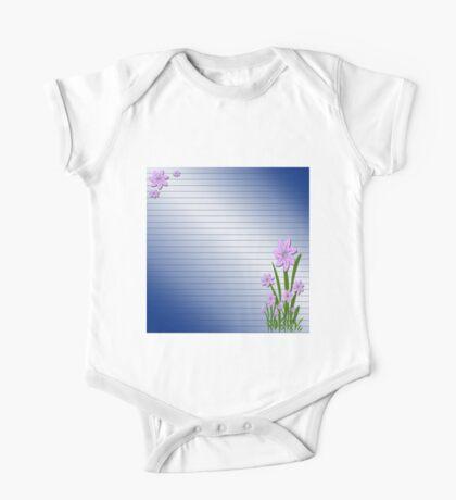 Purple flowers One Piece - Short Sleeve