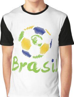 Brazilian soccer football Graphic T-Shirt