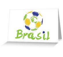 Brazilian soccer football Greeting Card