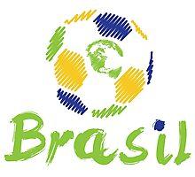 Brazilian soccer football Photographic Print