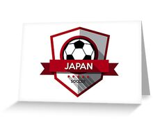Creative soccer japan design Greeting Card