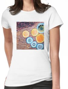 Still Life With Dotted Fruits Womens Fitted T-Shirt