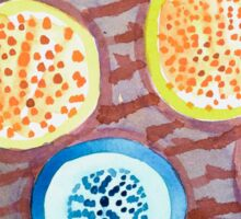 Still Life With Dotted Fruits Sticker