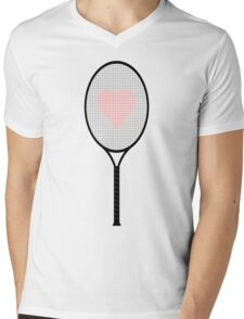 Tennis racket Mens V-Neck T-Shirt
