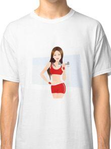 Fitness lady art Classic T-Shirt