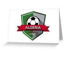 Creative soccer Algeria Greeting Card