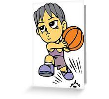 Basketball cartoon art Greeting Card