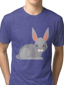 Cute Rabbit cartoon Tri-blend T-Shirt