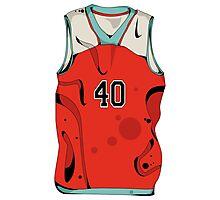 Basketball player jersey Photographic Print