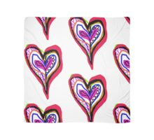 colourful heart Scarf
