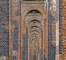 Supporting Brick Piers of Railway Viaduct by Steve
