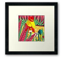 an encounter Framed Print