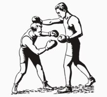 Olde time boxers classic boxing stances punching Kids Tee