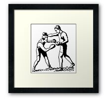 Olde time boxers classic boxing stances punching Framed Print