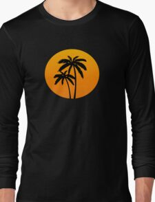 Palm Tress Sunset Long Sleeve T-Shirt