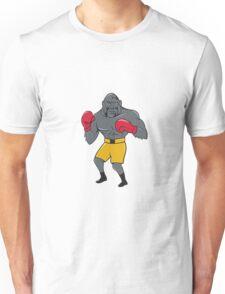 Gorilla Boxer Boxing Stance Cartoon Unisex T-Shirt