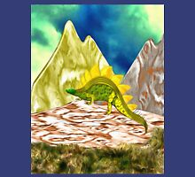 A Stegosaurus in the Mountains Unisex T-Shirt