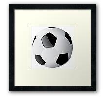 Football players kicking Framed Print