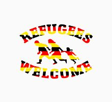 Refugees Welcome Germany Flag Colors Unisex T-Shirt