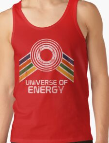 Universe of Energy Logo in Vintage Distressed Style Tank Top
