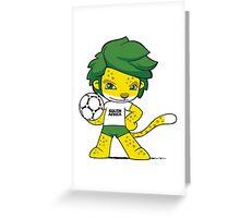 South Africa mascot zakumi Greeting Card