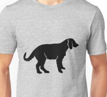 Irish red and white setter dog silhouette Unisex T-Shirt