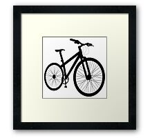 Bicycle silhouette Framed Print