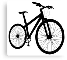 Bicycle silhouette Canvas Print
