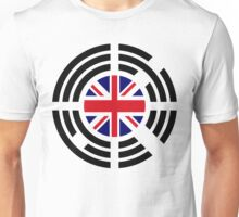 Korean Brit Multinational Patriot Flag Series Unisex T-Shirt