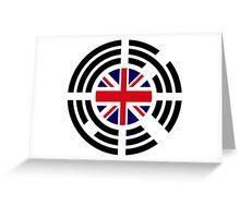 Korean Brit Multinational Patriot Flag Series Greeting Card