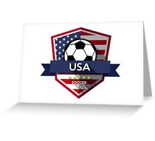 Creative soccer USA Greeting Card