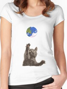 Cat Earth Yarn Women's Fitted Scoop T-Shirt