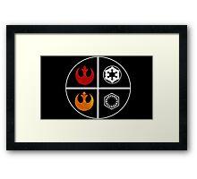 star wars symbols  Framed Print
