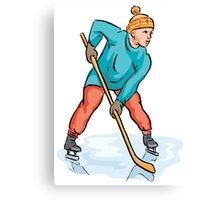 Hockey sport design Canvas Print