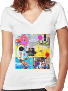 Breathe Easy live Women's Fitted V-Neck T-Shirt