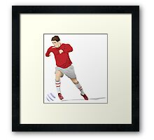 Soccer player cartoonSoccer player Framed Print