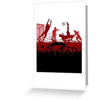 Soccer players at play poster Greeting Card