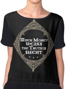 Money Russian Proverb Quote Cyrillic Chiffon Top