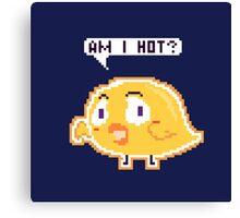 Chick: Am I Hot? Pixel Canvas Print