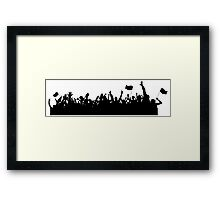 Sport supporters silhouettes Framed Print