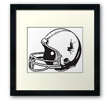American football helmet Framed Print
